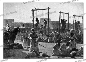 the execution of the last batahin arabs, sudan, talbot kellly, 1896