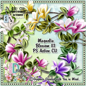 Magnolia Blossoms 03 | Other Files | Scrapbooking