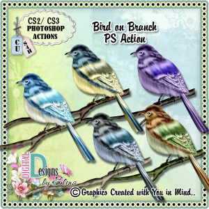 Bird on Branch | Other Files | Scrapbooking