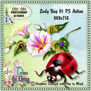Lady Bug 01 Photoshop Action | Other Files | Scrapbooking