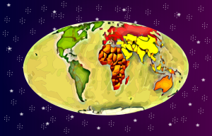 best  world map with colored based continents
