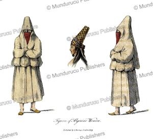 figures of algerine women, abraham salame, 1819