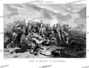 The death of colonel de Montagnac at the Battle of Sidi-Brahim, Algeria, Philippoteaux, 1846 | Photos and Images | Travel