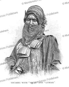 A Tuareg man with niqab and litham, Timbuktu, Felix Dubois, 1897 | Photos and Images | Travel