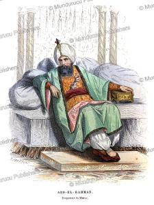 sultan of morocco abd al-rahman ibn hisham (1778-1859), ciappori, 1846