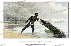 How a Moor catches a crocodile, Frederic Shoberl, 1821 | Photos and Images | Travel
