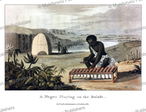 A Negro playing on the balafon, Western Africa, Frederic Shoberl, 1821 | Photos and Images | Travel