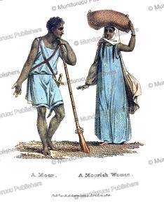 moorish man and woman, frederic shoberl, 1821