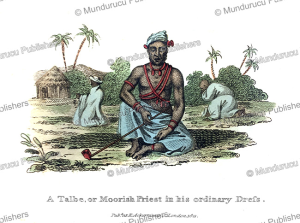 a talbe or moorish priest, northwest africa, frederic shoberl, 1821