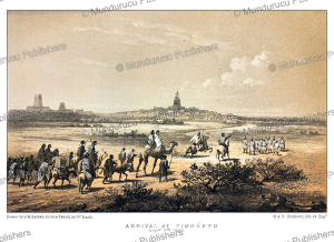 arriving in timbuktu, september 7, 1853, j.m. bernatz, 1857