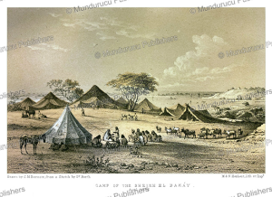 camp of sheik el bakay, timbuktu, j.m. bernatz, 1857
