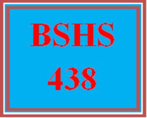 bshs 438 week 4 team - professional interview