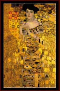 adele bloch bauer - klimt cross stitch pattern by cross stitch collectibles