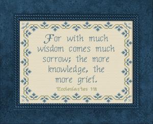 much wisdom