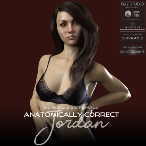 anatomically correct: jordan for genesis 3 and genesis 8 female