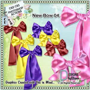 New Bow 04 PS Action | Other Files | Scrapbooking