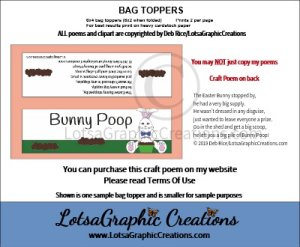 easter bunny 2 poop bag topper