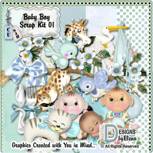 Baby Boy Scrap Kit 01 | Other Files | Scrapbooking