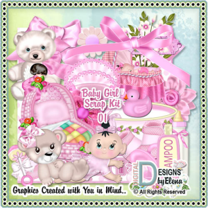 Baby Girl Scrap Kit 01 | Other Files | Scrapbooking