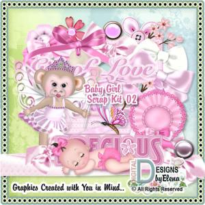 baby girl scrap kit 2