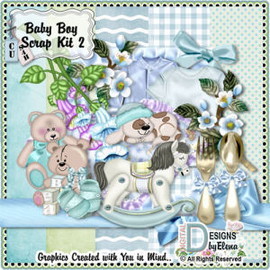 Baby Boy Scrap Kit 2 | Other Files | Scrapbooking