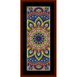 mandala 1 bookmark cross stitch pattern by cross stitch collectibles