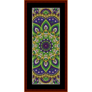 mandala 2 bookmark cross stitch pattern by cross stitch collectibles