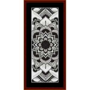 mandala 3 bookmark cross stitch pattern by cross stitch collectibles