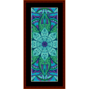 mandala 5 bookmark cross stitch pattern by cross stitch collectibles