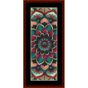 mandala 6 bookmark cross stitch pattern by cross stitch collectibles