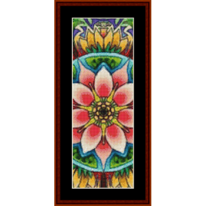 mandala 11 bookmark cross stitch pattern by cross stitch collectibles