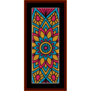 mandala 12 bookmark cross stitch pattern by cross stitch collectibles
