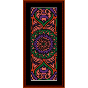 mandala 18 bookmark cross stitch pattern by cross stitch collectibles