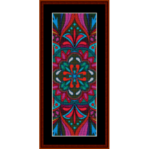 mandala 19 bookmark cross stitch pattern by cross stitch collectibles