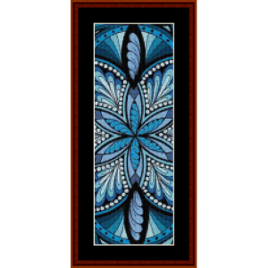 mandala 20 bookmark cross stitch pattern by cross stitch collectibles