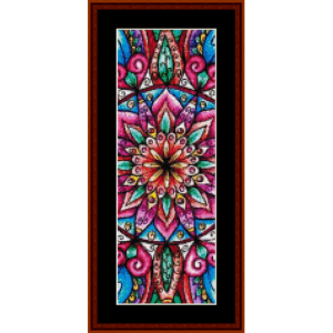 mandala 23 bookmark cross stitch pattern by cross stitch collectibles