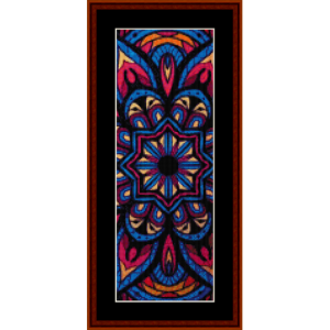 mandala 25 bookmark cross stitch pattern by cross stitch collectibles