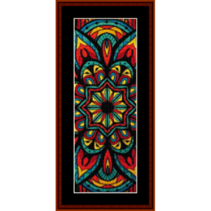 mandala 27 bookmark cross stitch pattern by cross stitch collectibles