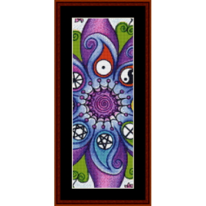 mandala 28 bookmark cross stitch pattern by cross stitch collectibles
