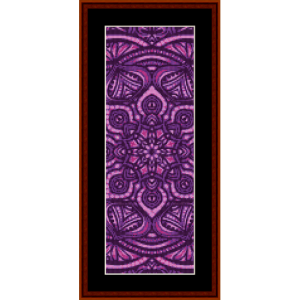 mandala 30 bookmark cross stitch pattern by cross stitch collectibles