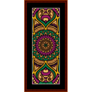 mandala 32 bookmark cross stitch pattern by cross stitch collectibles