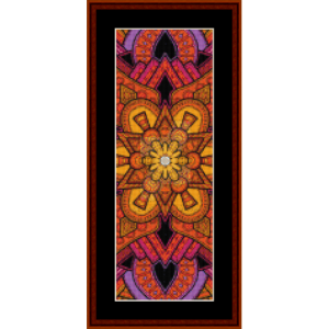 mandala 33 bookmark cross stitch pattern by cross stitch collectibles