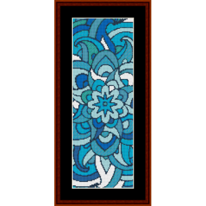 mandala 36 bookmark cross stitch pattern by cross stitch collectibles