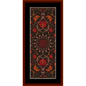 mandala 39 bookmark cross stitch pattern by cross stitch collectibles