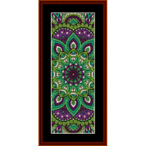 mandala 40 bookmark cross stitch pattern by cross stitch collectibles