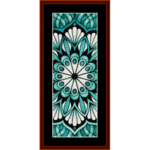 mandala 24 bookmark cross stitch pattern by cross stitch collectibles