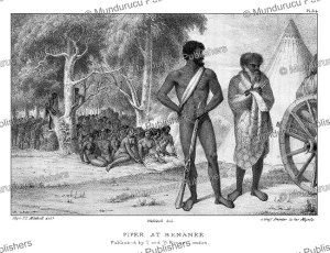 piper at benanee, an aborigine who accompanied mitchell in australia in 1836, thomas mitchell, 1839