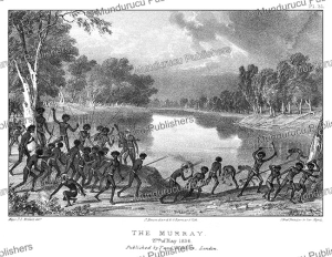 the murray river in australia, thomas mitchell, 1839