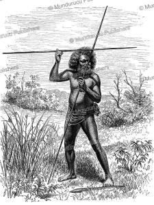 aboriginal of north australia, wilhelm sievers, 1895