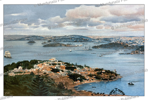 the bay of sidney, new south wales, australia, wilhelm kuhnert, 1895